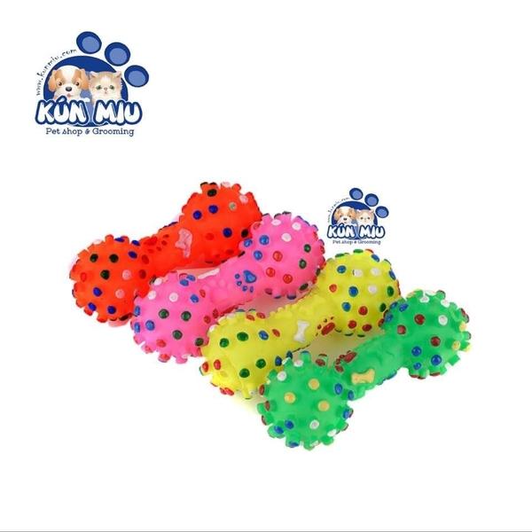 Đồ chơi cho chó Xương chấm 7 màu