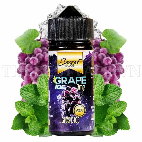 Tinh dầu vape Grape Ice 100ml - Secret Sauce