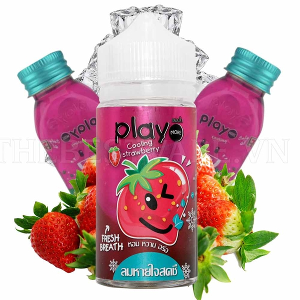 Tinh dầu vape malaysia Strawberry Play 100ml