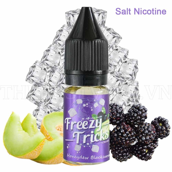 Bán tinh dầu vape malaysia salt nicotine Honeydew Blackcurrent 10ml Freezy Tricks
