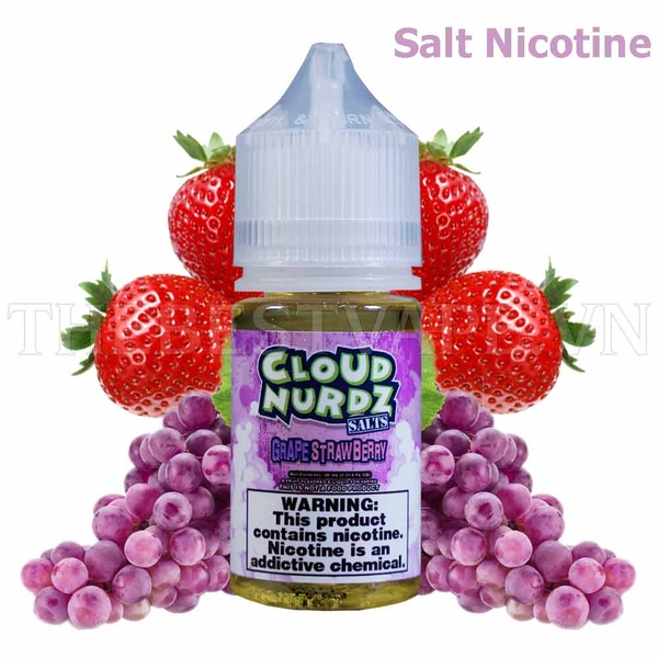Tinh dầu vape mỹ Salt Nicotine Grape Strawberry 30ml - Cloud Nurdz