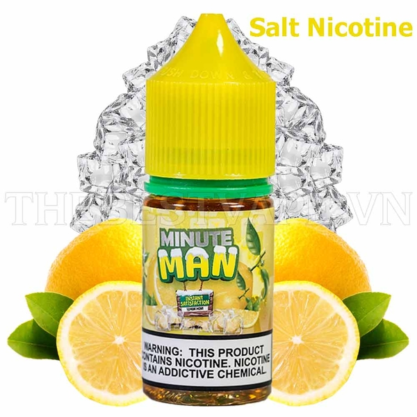 Tinh dầu vape mỹ Salt Nicotine Lemon Mint Ice 60ml - Minute Man