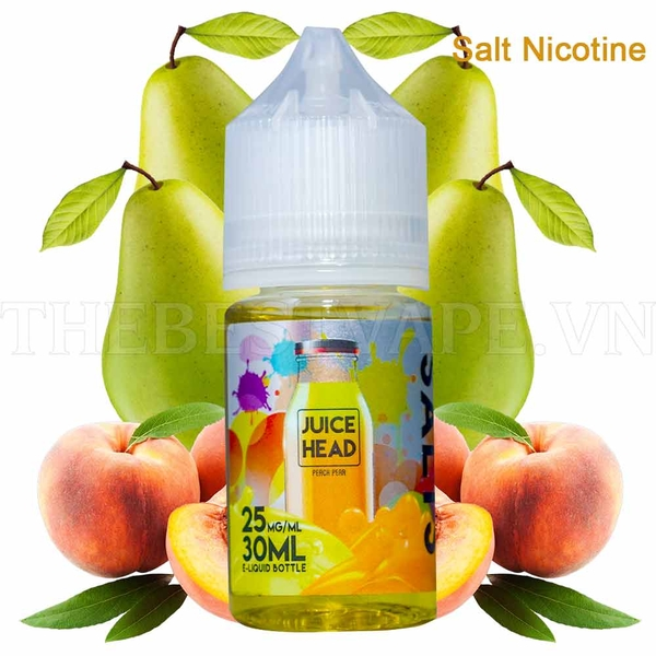 Tinh dầu vape mỹ Salt Nicotine Peach Pear Juice Head 30ml