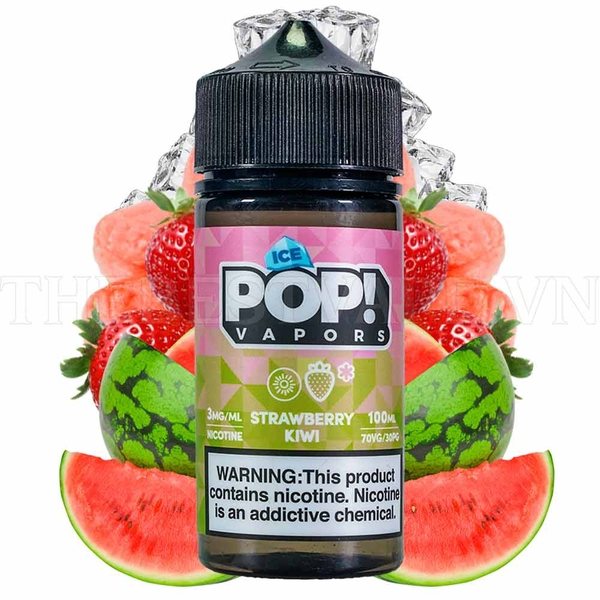 Tinh dầu vape mỹ IcePop Strawberry Watermelon 100ml 3