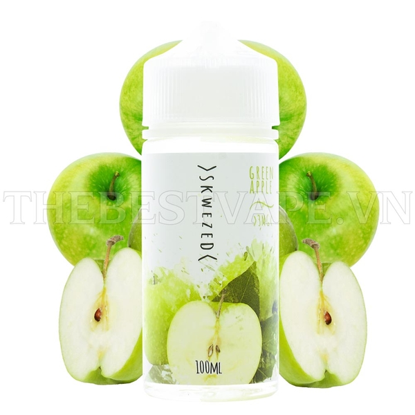 Tinh dầu vape mỹ Green Apple by Skwezed 100ml