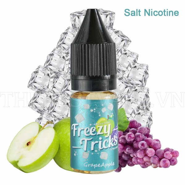 Tinh dầu vape malaysia salt nicotine Apple grape Freezy tricks 10ml