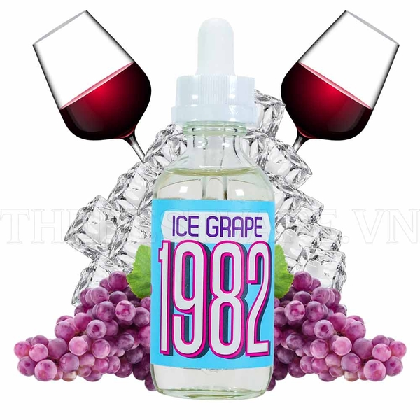 Tinh dầu vape mỹ Ice Grape 1982 60ml