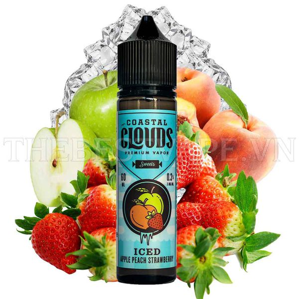 Tinh dầu vape mỹ Iced Apple Peach Strawberry 60ml - Coastal Clouds