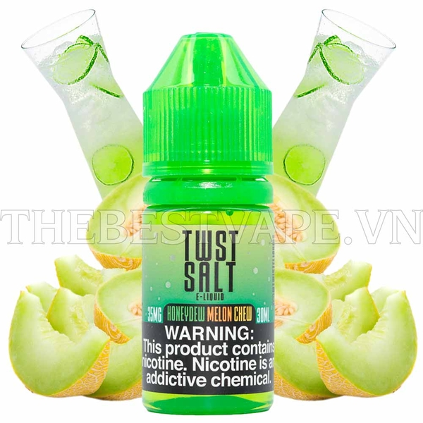 Tinh dầu vape mỹ Salt Nicotine Honeydew Melon Chew Twist 30ml