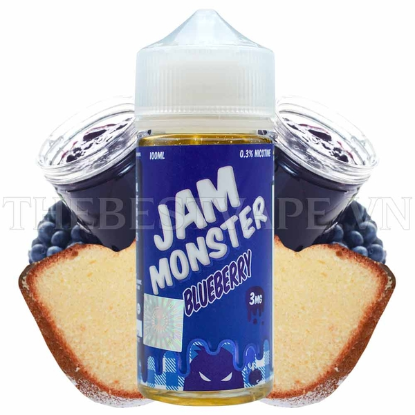 Tinh dầu vape mỹ BlueRaspberry 100ml - Jam Monster