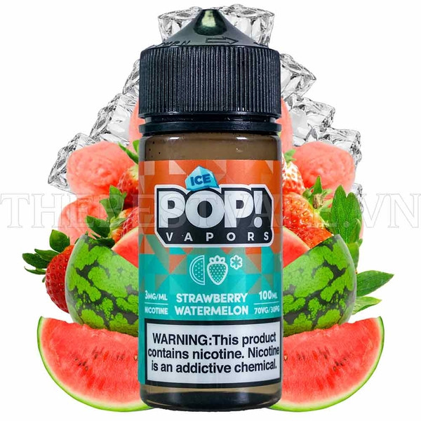Tinh dầu vape mỹ Ice Pop Strawberry Watermelon 100ml