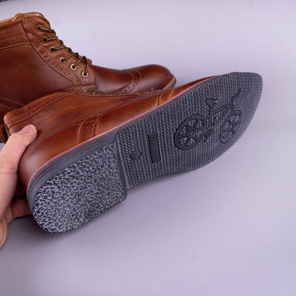 Giày nam cao cổ ngoại cỡ da thật xịn