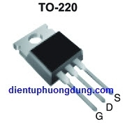 IRF530 TO220 MOSFET Kênh N 14A 100V