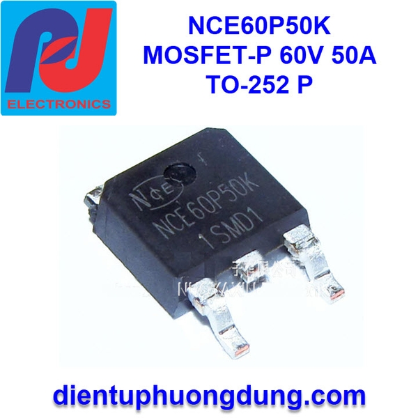 NCE60P50K MOSFET-P Channel 60V 50A