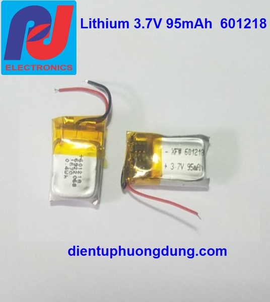 Pin Li-ion 601218 3.7V 95mAh tai nghe Bluetooth