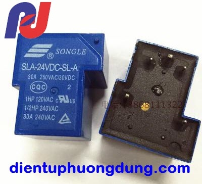 Relay Songle T90 24V 30A 5C SLA 24VDC SL A