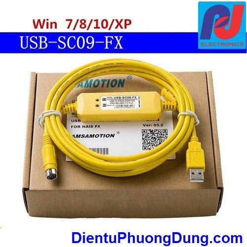 USB SC09 FX cho PLC Mitsubishi FX