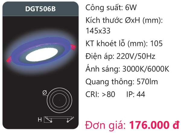 Đèn Led panel Duhal DGT506B