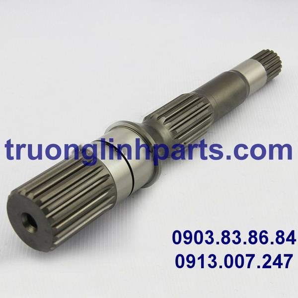 Shaft HPV140 of hydraulic pump, Komatsu PC300/350/360-7