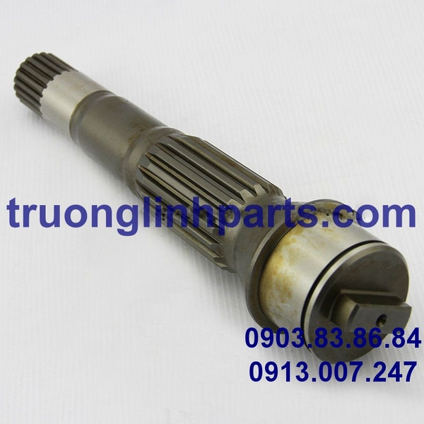 Shaft HPV132 of hydraulic pump, Komatsu PC300/350/400/450-6