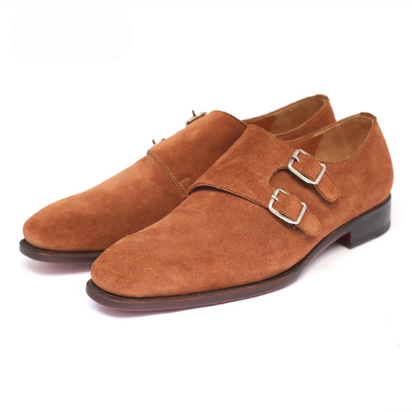 NAMIDORI PLAIN TOE DOUBLE MONK