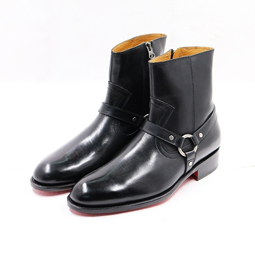 NAMIDORI HARNESS BOOTS BLACK