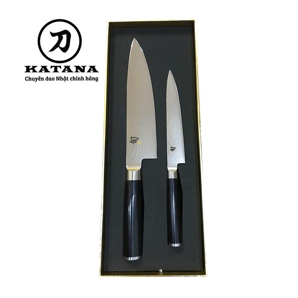 Bộ 2 dao bếp Nhật cao cấp Shun Classic Chef và Ultility DMS-220