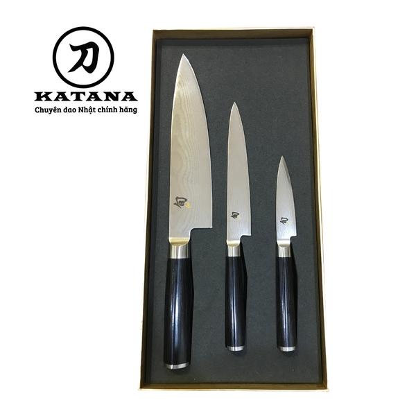 Bộ 3 dao bếp Nhật cao cấp Shun Classic Chef, Ultility và Paring DMS-300
