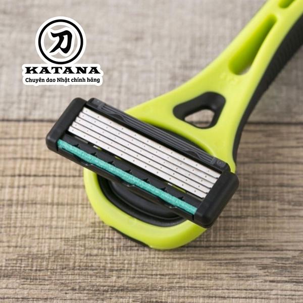 Dao cạo râu cao cấp Nhật Xfit 5 blade màu xanh (hộp vuông)