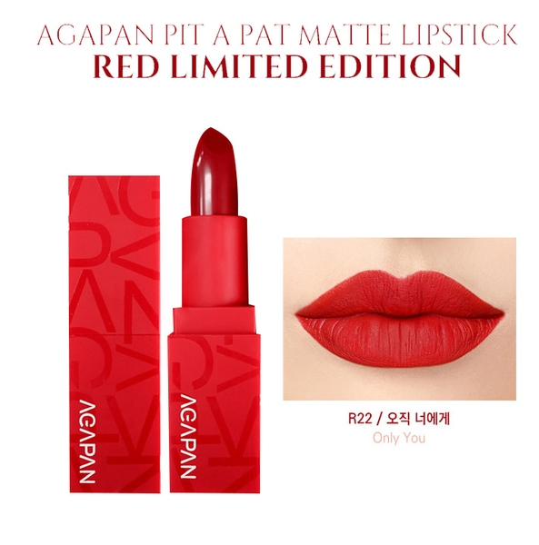 son-thoi-agapan-red-limited-pit-a-pat-lipstick-r22-only-you