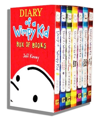 Diary of a Wimpy Kid Box of Books (1-7)