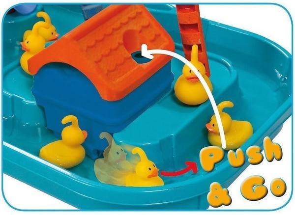 nút bấm bộ đồ chơi câu vịt để chuyển động nước, các chú vịt bơi lội