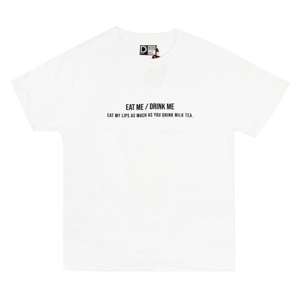 DVSL Tee Eat Me Drink Me - WHITE