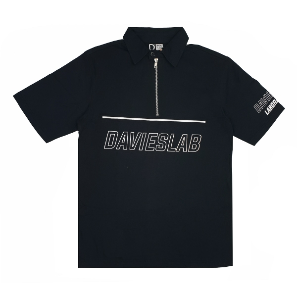 DVSL POLO ZIPPER TEE - BLACK
