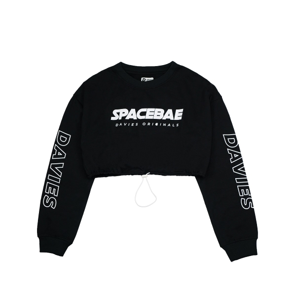 DSS Croptop LS Space Bae-BLACK