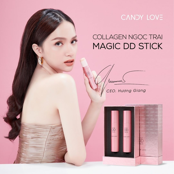 KEM NỀN COLLAGEN NGỌC TRAI MAGIC DD STICK CANDY LOVE