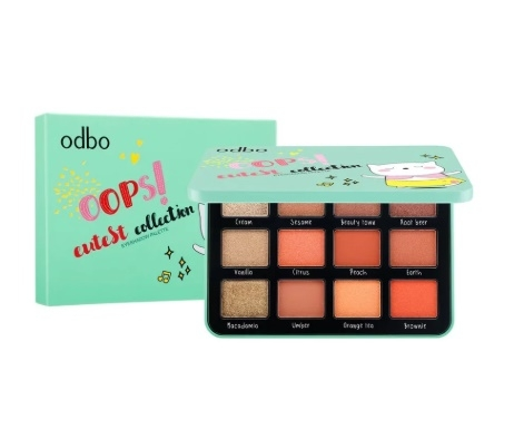 BẢNG PHẤN MẮT 12 Ô ODBO OOPS CUTEST COLLECTION EYESHADOW PALETTE OD212 NO.02