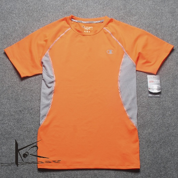 Áo chạy bộ nam CHAMPION MEN'S COMPRESSION SS TEE ELECTRIC ORANGE