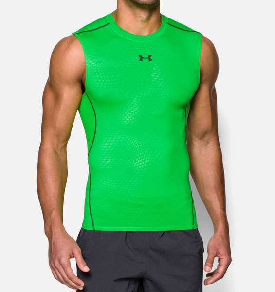 Áo chạy bộ nam UNDER ARMOUR Men's HeatGear® Armour Printed Sleeveless Compression Shirt