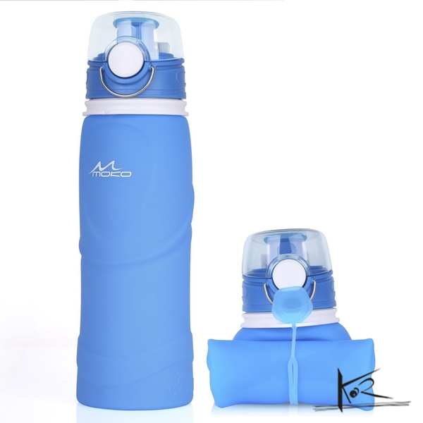 Phụ kiện thể thao - Bình nước cầm tay Sillicone - Moko Collapsible Sillicone Water Bottle