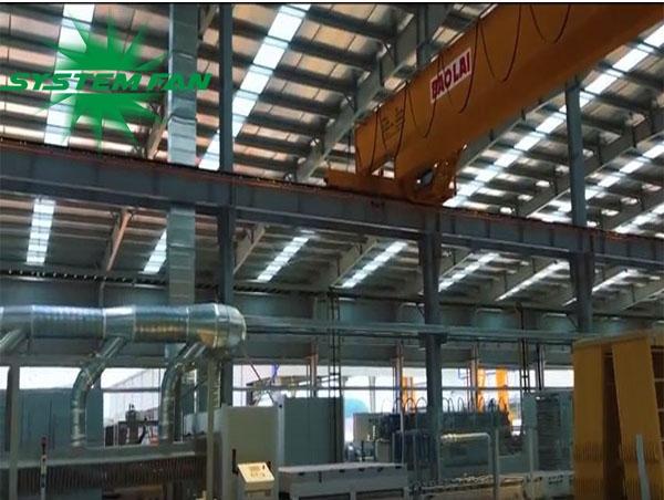 Hệ thống xử lý khí cho nhà máy Đá Trắng Bảo Lai do System Fan Việt Nam triển khai