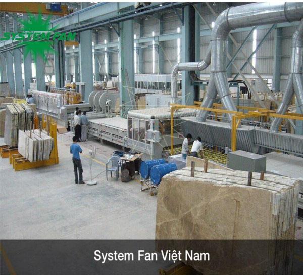 Thi công và lắp đặt hệ thống xử lý khí cho nhà máy Đá Trắng Bảo Lai.
