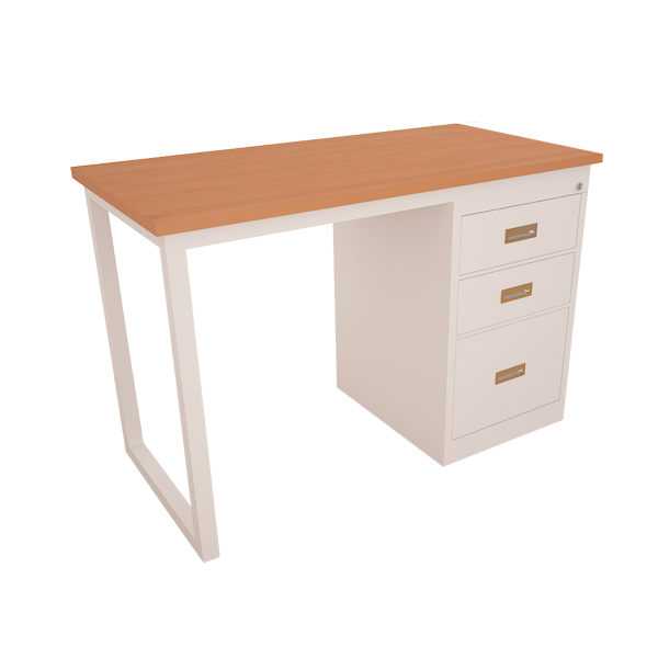 Working desk with central drawer
