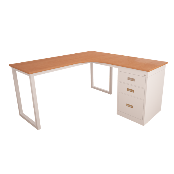 Working desk with drawers
