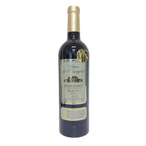 AS06- Vang đỏ cao cấp - Chateau De L'orangerie Bordeaux Superieur Grand Cuvee 2013