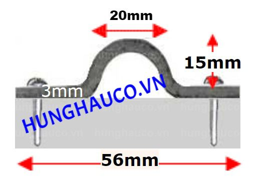 Ray cửa cổng lùa U21mm  (U Lớn) - dài 3m