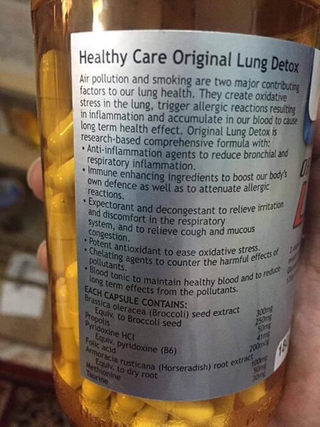 Viên giải độc phổi Healthy Care Original Lung Detox HANG UC PLAZA