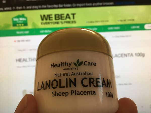 KEM NHAU THAI CỪU HEALTHY CARE LANOLIN CREKem Dưỡng Da Nhau Thai Cừu Healthy Care Lanolin Cream Sheep Placenta 100g sacmauonlineAM WITH SHEEP PLACENTA 100g sacmauonline