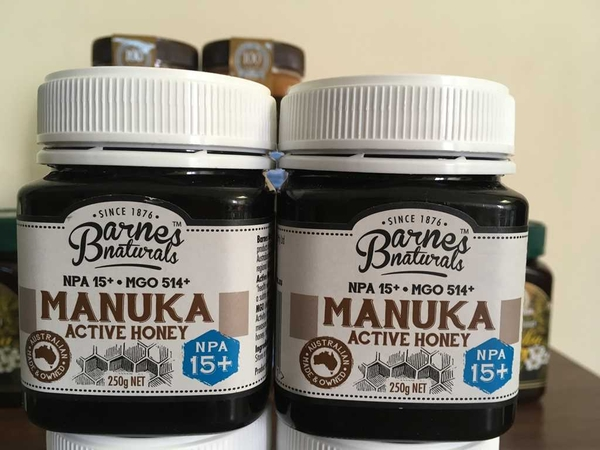 Mật ông Manuka Active Honey 15+ Barnes Naturals