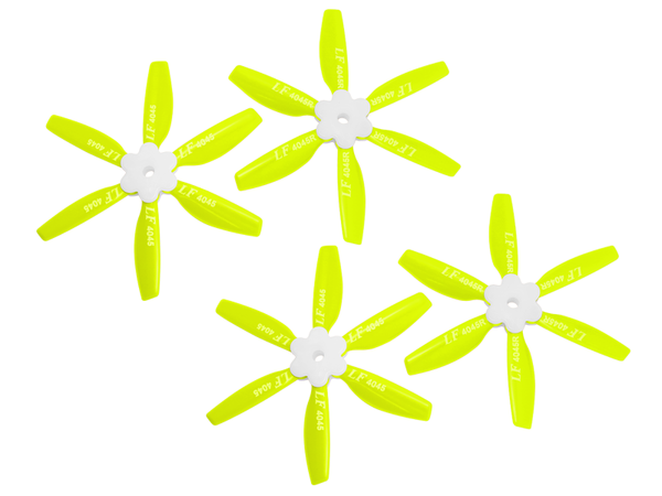 4045 6 Blades Folding Propeller (2CW+2CCW) (Yellow)